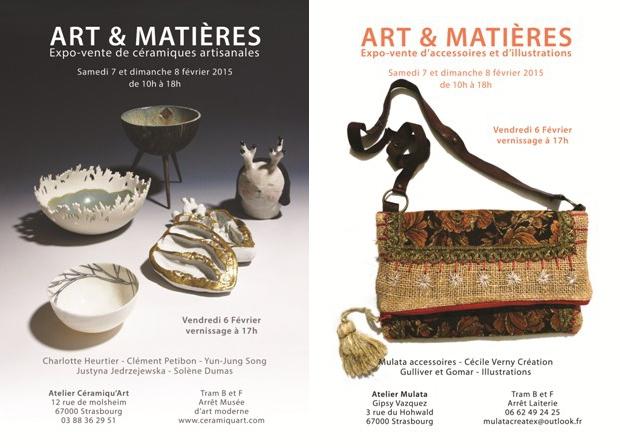 Flyer Art et Matières - Pôle Céramique, accessoires et illustrations
