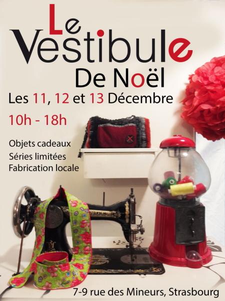 """Flyer """"Le Vestibule de Noël"""" les 12 et 13 décembre 2015 - EDENDROPS expose"""